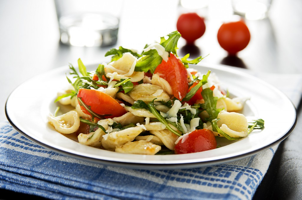 dishmaps cherry tomatoes orecchiette with cherry tomatoes and arugula ...